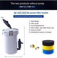 Aquarium External Filter Canister With No Pump Outer Filtration System For Fish Tank Sunsun HW 602 HW 603 Filter Bucket