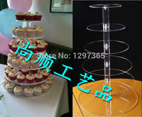 Free Shipping 6 Tier Round Cake Stand Or Cupcake Stand Acrylic Square Cake Decoration Wedding Cup