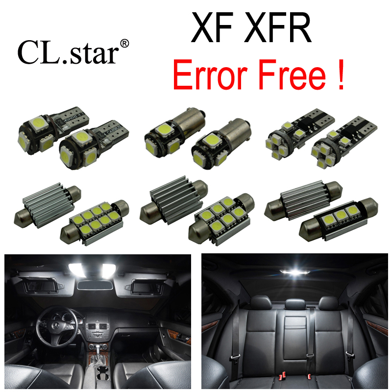 18pc X Nice Canbus Error free LED Interior dome map reading Light lamp Kit Package For Jaguar XF XFR (2008-2015) 18pc canbus error free reading led bulb interior dome light kit package for audi a7 s7 rs7 sportback 2012