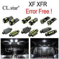 18pc X Nice Canbus Error free LED Interior dome map reading Light lamp Kit Package For Jaguar XF XFR (2008 2015)