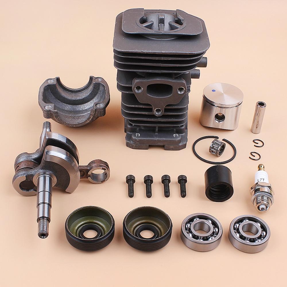 Tools : 40mm Piston Cylinder Crankshaft Crank Bearing Oil Seal Engine Kit for HUSQVARNA 136 137 141 142 Gas Chainsaw Spares 530069941