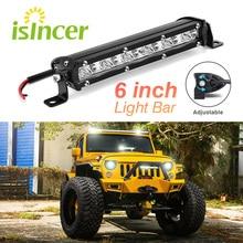 Led Beams 6″ inch 18W LED Car Work Light Bar Spotlight Offroad Fog Lamp Vehicle 18w Work Lamp LED 12V Work Light Car Styling