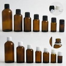 200x100 مللي 50 مللي 30 مللي 20 مللي 10 مللي 5 مللي ل فارغة صغيرة العنبر زجاجة مستديرة بالقطارة الأساسية زجاجة أبيض أسود العبث واضح غطاء