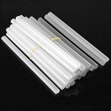 10 шт., термоклеевые палочки 11x150 мм, полупрозрачные, высокая вязкость, горячие клеевые палочки для 7-11 мм, клеевой пистолет для рукоделия, клей-карандаш