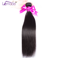 LeModa Malaysian Straight Hair 1pc 3 or 4 Bundles Human Hair Weave Bundles Thick Natural Color Remy Hair Extensions Can Be Dyed