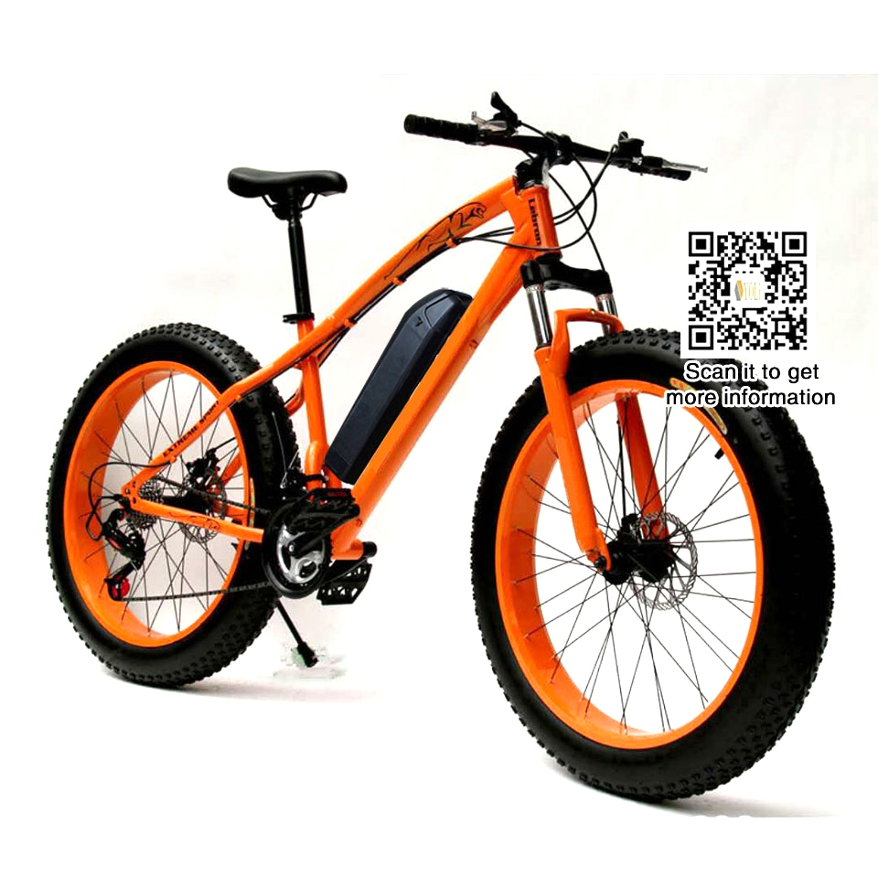 free slow shipping Mountain EBike Road Electric Bicycle 36V 10.4AH 26*4.0 fat tire, snow bike блендер centek ct 1316