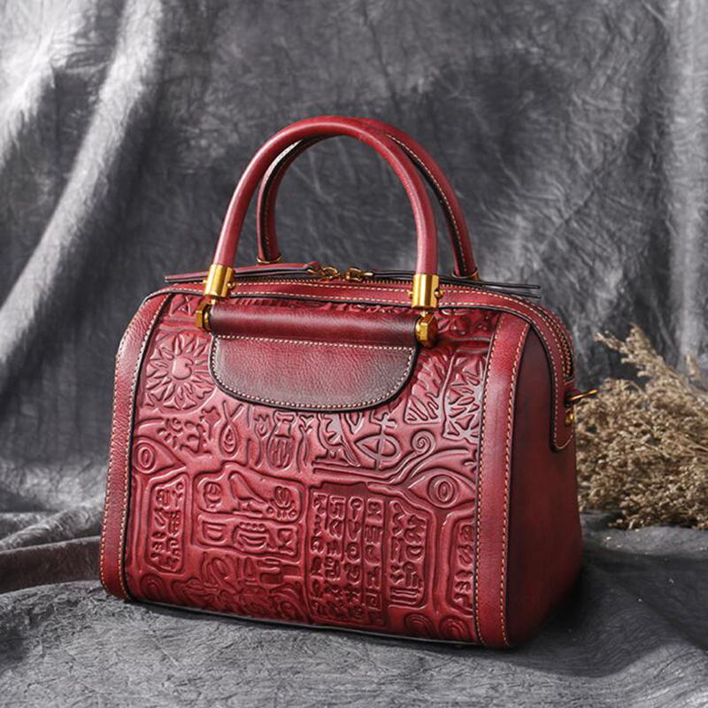 ผู้หญิงที่มีชื่อเสียงแบรนด์ผู้หญิงกระเป๋าถือ Cowhide กระเป๋า Sac Luxury Embossed Messenger กระเป๋ากระเป๋าถือกระเป๋าหนังแท้-ใน กระเป๋าหูหิ้วด้านบน จาก สัมภาระและกระเป๋า บน   1