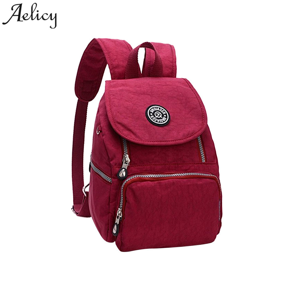 Aelicy Nylon Backpacks Women Backpack School Bags for Teenage Female Waterproof Teenage Backpacks for Girls Casual Laptop Bag