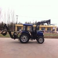 Hot Multipurpose Tractor Front loader Back Hoe With Cockpit 50 Horsepower|hoe| |  -