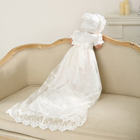 Baby Christening Gown Dress Baby Shower Baptism Dress Long Lace Newborn First 1st 1 Year Birthday Party Wedding Baby Dress