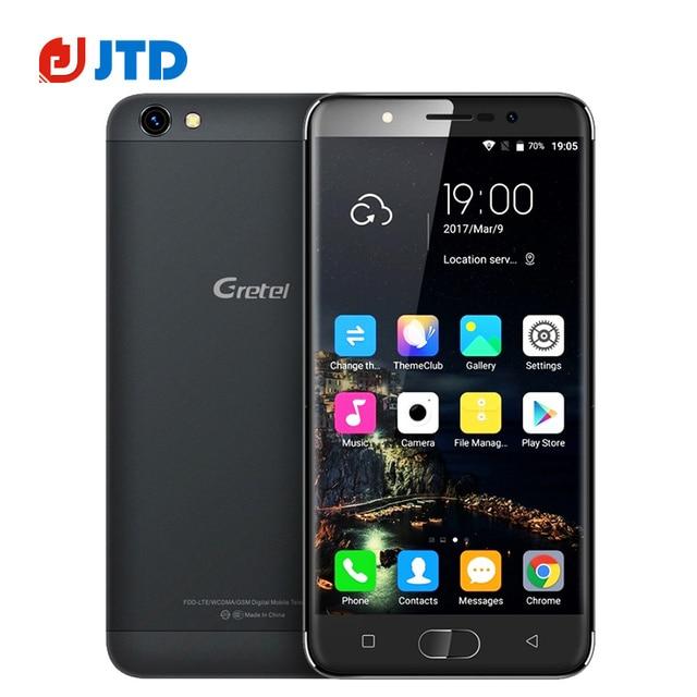 New GRETEL A9 Smartphone Quad Core Android 6.0 MT6737 2GB RAM 16GB ROM 5.0''1280x720 IPS 8MP Flash Light 2300mAh 4G CellPhone