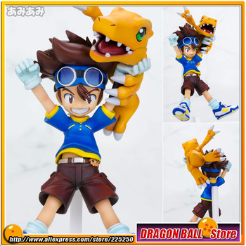 "Japanese Anime ""Digimon Adventure"" Original MegaHouse G.E.M. Series 1/10 Complete Figure - Taichi ""Tai"" Kamiya & Agumon"