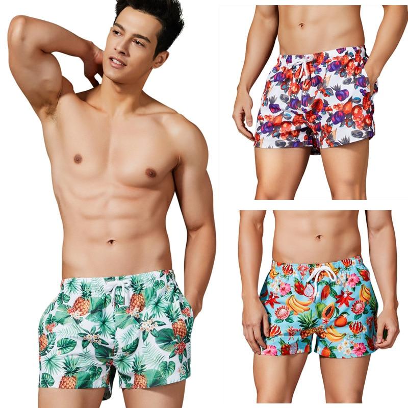 3PCS Men's Printed   Board     Shorts   Quick Dry Beach   Shorts   Swim Trunks Male Bikini Swimwear Surfing   Shorts   De Bain Homme Banadore