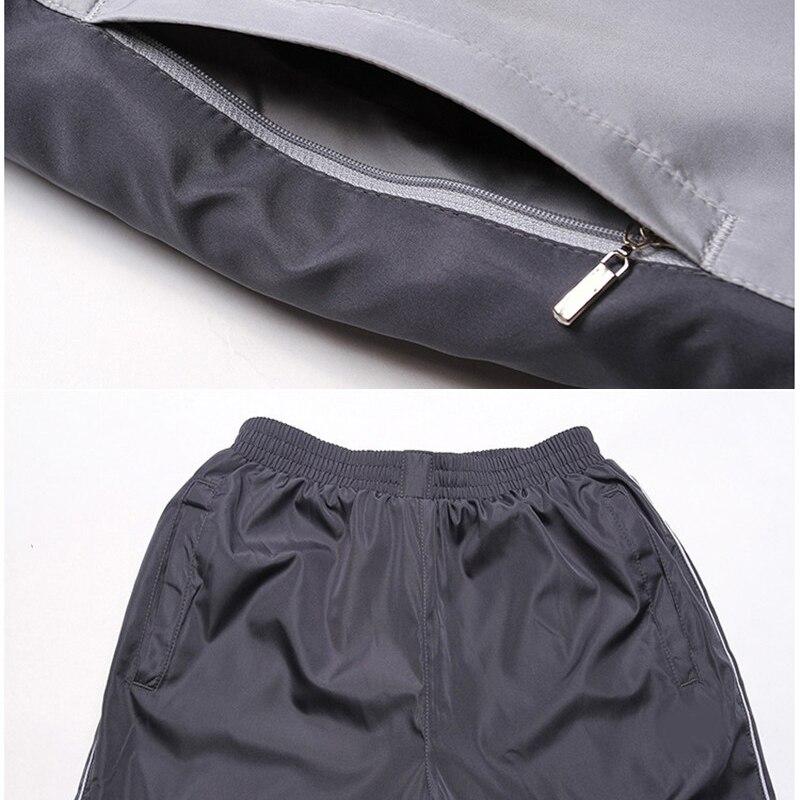 New Winter Sets Plus Velvet Men Sport Suits Sportswear Set Fitness Warm Tracksuit Zip Pocket Casual Suit Male's Clothing