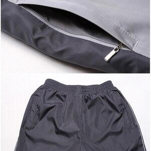 Image 5 - Novos conjuntos de inverno além de veludo masculino ternos do esporte conjunto de fitness treino quente zip bolso casual terno roupas masculinas