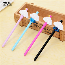 4pcs/lot Cartoon expression clouds cute gel pen black refill ultra-pen creative necessary to open the gift