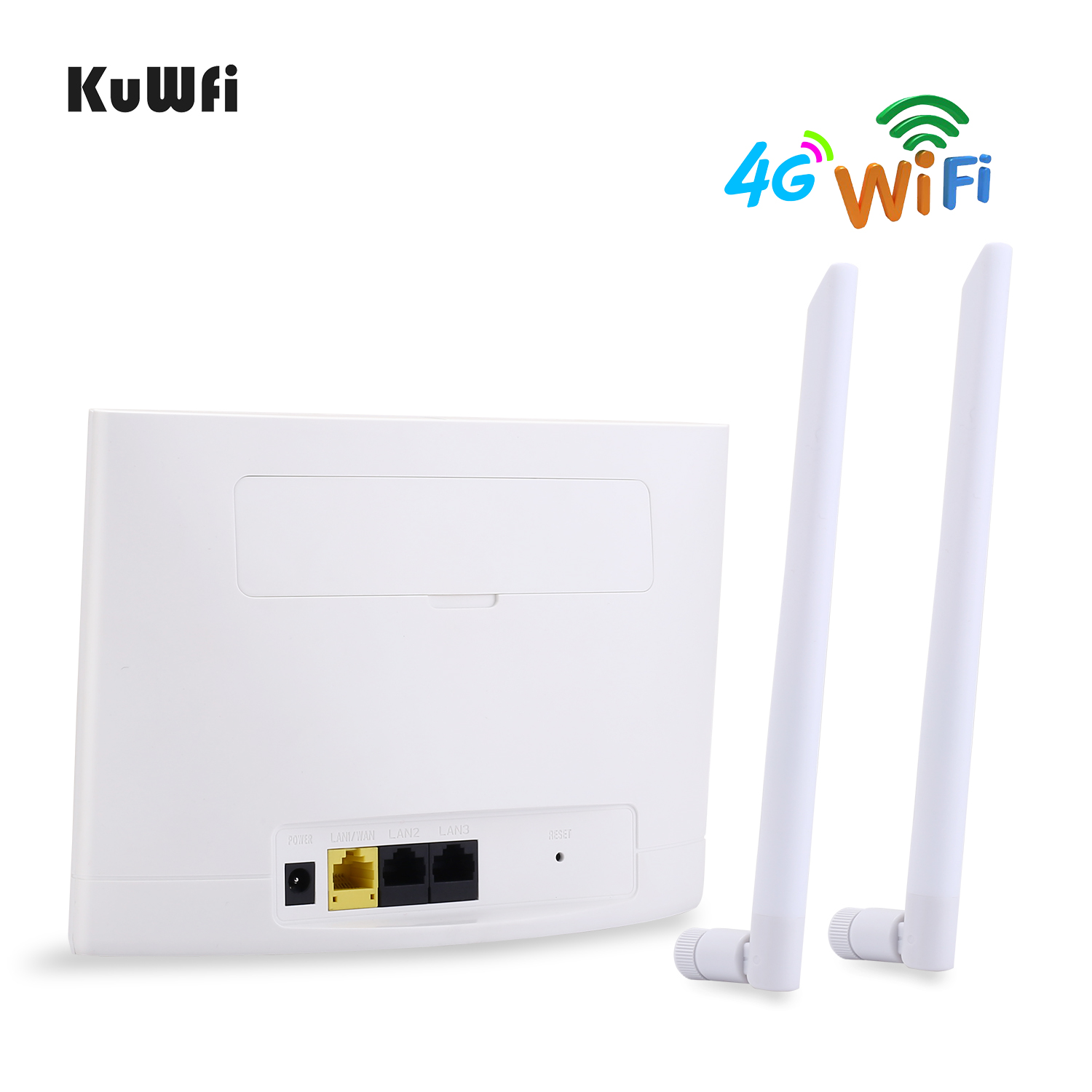 Image 4 - KuWfi 4G LTE Router 150Mbps Wireless CPE Router 3G/4G SIM Card Wifi Router Support 4G to Wired Network up to 32 Wifi Device-in 3G/4G Routers from Computer & Office