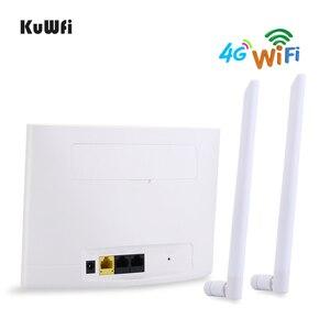 Image 4 - Routeur KuWfi 4G LTE 150Mbps routeur CPE sans fil 3G/4G carte SIM routeur Wifi prise en charge 4G au réseau câblé jusquà 32 appareils Wifi