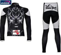 3D Silicone New Wolf 2012 Team Long Sleeve Autumn Cycling Wear Clothes Bicycle Bike Riding Cycling