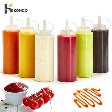Бутылочки для приправ KONCO с закручивающимся колпачком, крышки для кетчупа, горчицы, Майо, горячие соусы, бутылки для оливкового масла, кухонный гаджет
