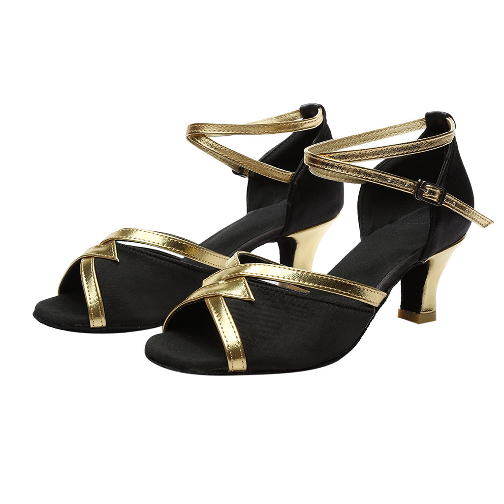YOUYEDIAN Sandals Women Shoes Fashion Solid Latin for Ladies Schoenen Vrouw -G30 Salsa