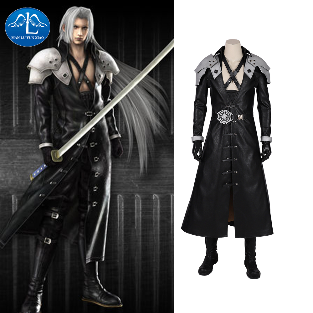 Manluyunxiao Final Fantasy FF VII Remake Sephiroth Cosplay Costume Adult Men Halloween Carnival Costumes Custom Made image