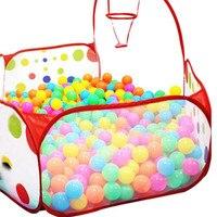 ילדים Pop up אוהל משושה פולקה דוט ילדים כדור בריכת משחק לשאת Tote צעצוע + 50 כדורים מתאים עבור 0-3 שנים # dropship
