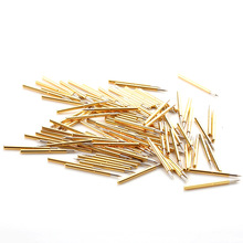 New Hot Sale 100Pcs P75-B1 Brass Spring Test Probe Nickel Plated Needle Diameter 1.02mm Electronic