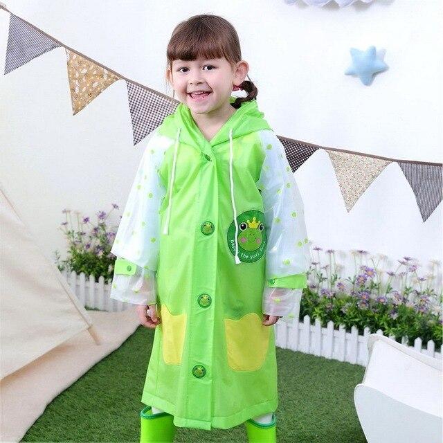 Children Raincoat Kindergarten Baby Child Student Raincoat Catamite Girl Waterproof Poncho A Bag Position Will Brim Of A Hat