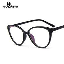 88403273c1d3 2019 Spectacle frame cat eye Glasses frame clear lens Women brand Eyewear  optical frames myopia nerd black red eyeglasses frame