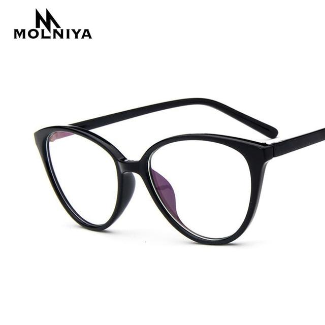 061d659a50 2019 Spectacle frame cat eye Glasses frame clear lens Women brand Eyewear  optical frames myopia nerd