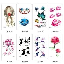 1 шт. Прочный 3D различных узор Водонепроницаемый Временные татуировки Flash Наклейки Средства ухода за кожей Книги по искусству для женщин передаче поддельные татуировки