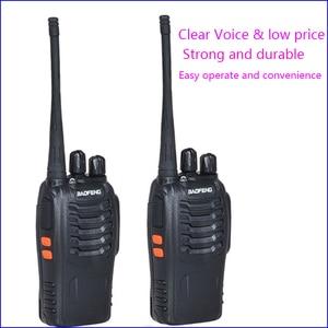 Image 1 - 2 個オリジナル Pofung BF 888S 2 双方向ラジオ局トランシーバードライバアマチュア無線キット Interphon インターホン baofeng 888