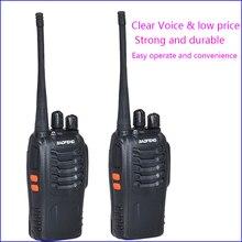 2pcs Original Pofung BF 888S 2 Two way radio station walkie talkie for driver amateur radio kit Interphon Intercom baofeng 888