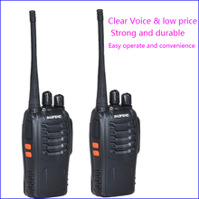 Stazione radio bidirezionale originale Pofung 2 pezzi, walkie talkie per autisti kit radio amatoriale interfono interfono baofeng 888