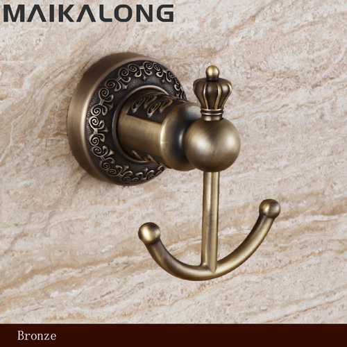 NO.88801 Bathroom Accessories  Wholesale Bronze Coloured Robe Hook