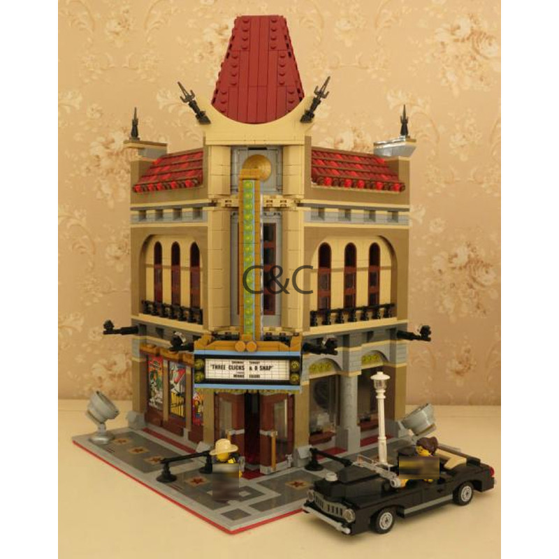DHL 15006 2354pcs City View Palace Cinema Model Building Blocks Set Bricks Toys Compatible LegoINGys 10232 Toys For Children 0367 sluban 678pcs city series international airport model building blocks enlighten figure toys for children compatible legoe