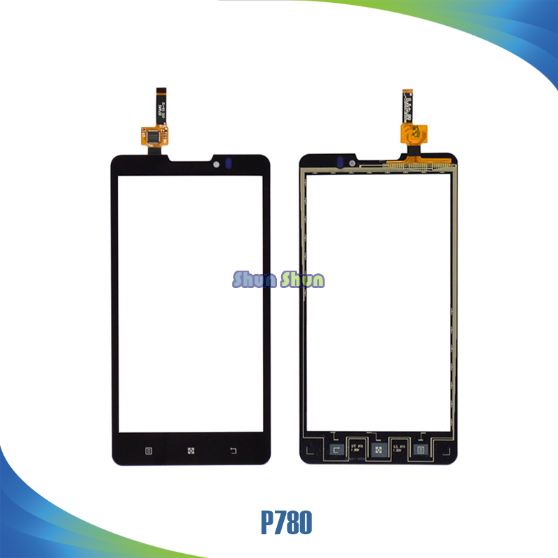 10pcs/lot 5.0 P780 Touch Screen for Lenovo P780 Touch Screen Digitizer Sensor Front Glass Lens Panel Black Mobile Phone Parts