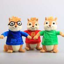 Juguetes de película de felpa de Alvin y los Chipmunks para niños, muñecos de 9