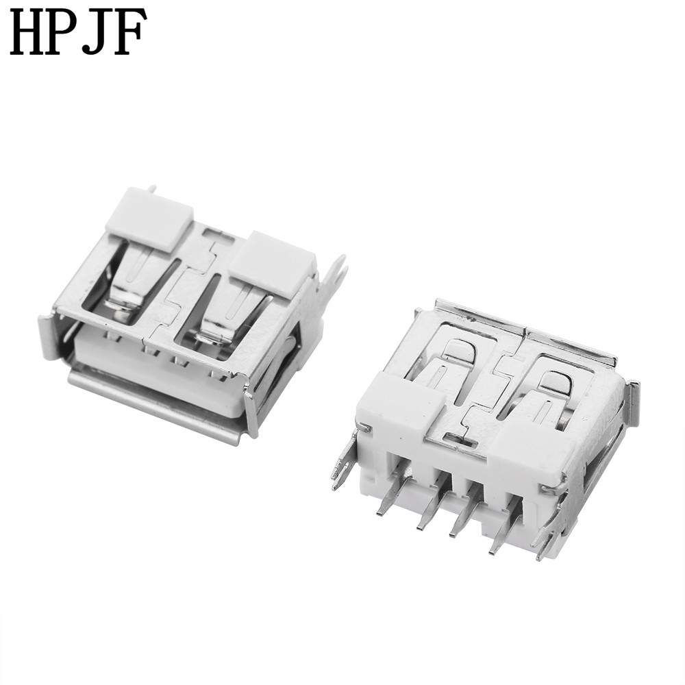 <font><b>10Pcs</b></font> New <font><b>USB</b></font> 2.0 Female Type <font><b>A</b></font> 4 Pin PCB <font><b>Connector</b></font> 180 Degree DIY image