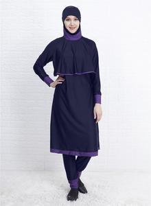 Image 5 - Maillot de bain avec Hijab pour femmes, couverture complète, Long, Burkini, modèle islamique, maillot de bain musulman, nouvelle collection, maillot de bain