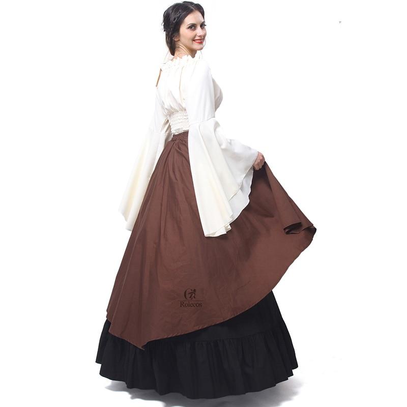 Rolecos Gothic Lolita Chiffon Dresses Wanita Renaissance Dresses - Kostum karnival - Foto 3