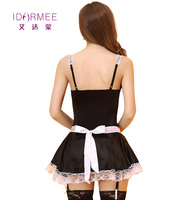 IDARMEE Brand S9067 1 French Maid Costume Women Exotic Apparel Sexy Cosplay Erotic Lingerie Porn Role Play Babydoll Sex Clothes