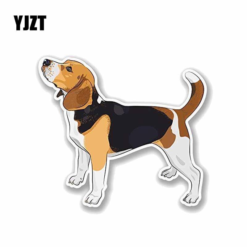 YJZT 13.5*12CM Beagle Dog PVC Car Decoration Car Sticker Decals C1-4110 yjzt 13 2 16cm fashion lovely ice hockey cartoon sharks colored pvc car sticker decoration c1 5395