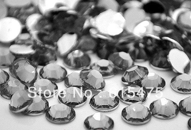 6mm Diamante Negro Color SS30 rhinestones de la Resina cristalina flatback, Envío Libre 10,000 unids/bolsa