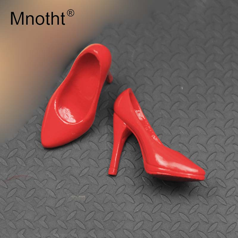 """1//6 Scale Female Red Sneakers For 12/"""" Female Hot Toys Figure"""