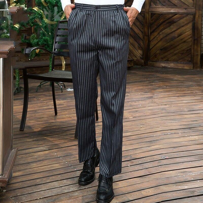 Шеф-повар Штаны 2018 Новый стиль отель Для мужчин работы Штаны Для мужчин брюки в полоску комбинезоны шеф-повара одежда решетки Для женщин сез...