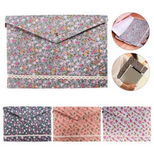 Vintage Dots Flower Face Series A4 Documents File Bag Files Folder Stationery Filing Production smile face file bag