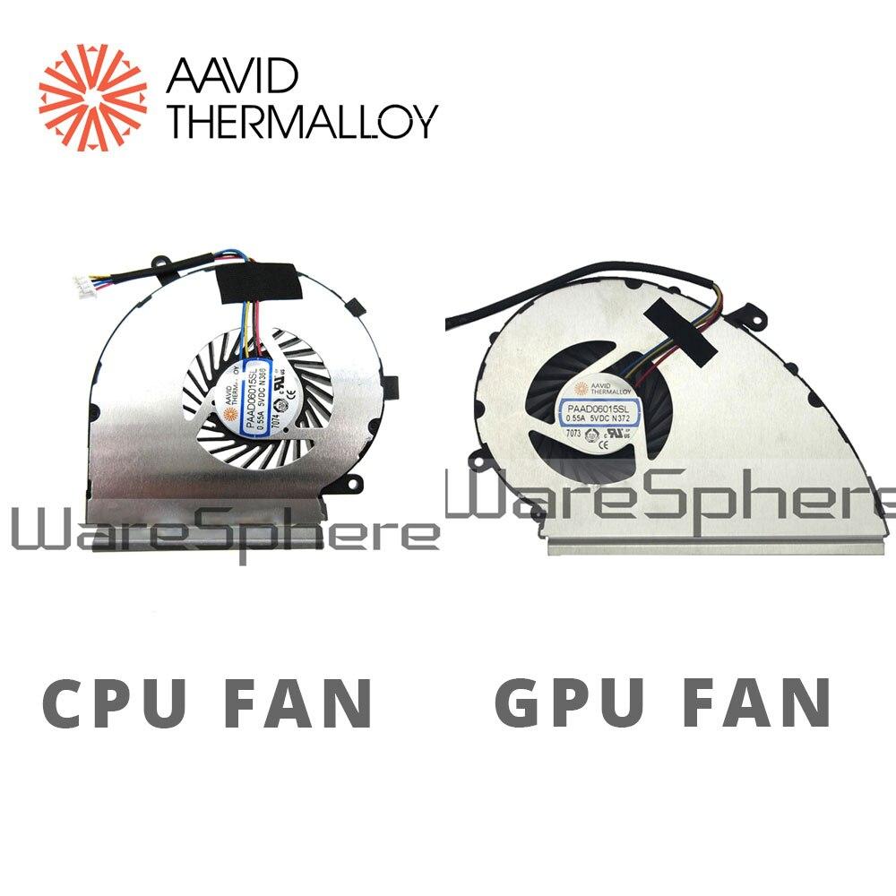2 Fans PAAD06015SL N366 N372 New MSI GE72VR GP72VR Cpu Gpu Cooling Fan