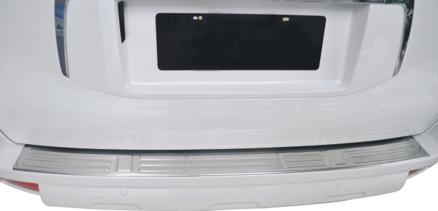 Stainless steel Rear bumper cover tailgate trim accessories For 2010 11 12 13 14 15 16 Toyota Prado FJ150 150  Chrome Styling high quality stainless steel chrome body side moulding cover trim for 2009 2010 2011 2012 2013 2014 audi q5 car styling